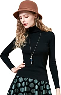 Women's Basic Series Soft Turtleneck Long Sleeve Knit Sweater Pullover Base Layer Tops