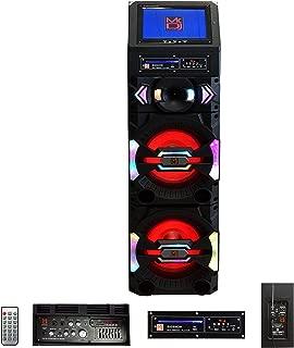 "Mr. Dj Big Show 3-Way Dual Portable Active Speaker, Max Power 5000 Watts P.M.P.O, 12"" LCD DVD Player Bluetooth Technology (BIGSHOW)"