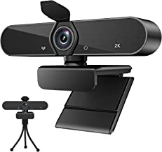 Webcam with Microphone,Full HD 1080P USB Webcam 30fps Plug and Play 140 Degree Wide Angle with Privacy Cover and Tripod fo...