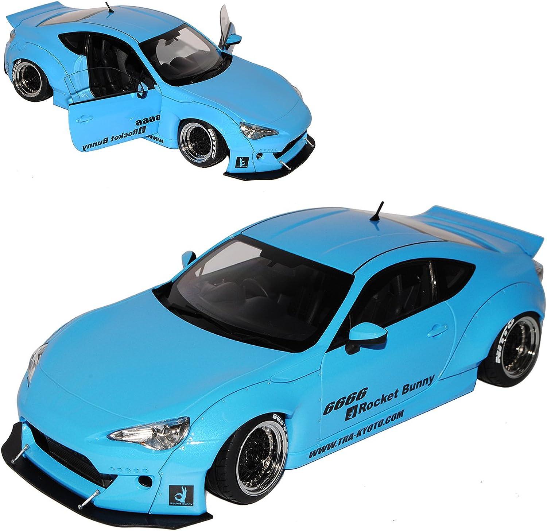 AUTOart Toyota GT86 Rocket Bunny Coupe Himmel Blau 78758 1 18 Modell Auto B071WX3VWG Schön  | Online Kaufen