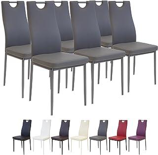 Albatros 2916 Salerno Set de 6 sillas de Comedor, Gris