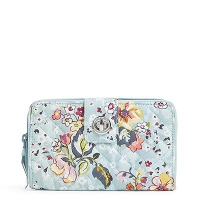 Vera Bradley RFID Turnlock Wallet (Floating Garden) Wallet Handbags