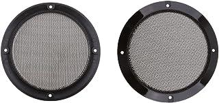 2 peças de 16,5 cm cor preta alto-falante decorativo circular subwoofer capa protetora protetora para grade de subwoofer, ...