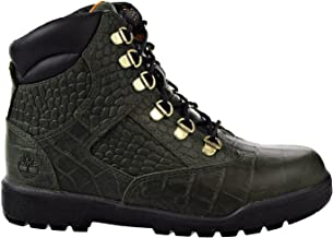Timberland - Juniors 6 in Leather Field Boot, Size: 7 M US Big Kid, Color: Green Cardinal Exotic