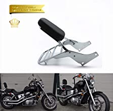 Leather Backrest Sissy Bar + Luggage Rack Pad For Honda Shadow VT 1100 Sabre 1100 ACE 1995-2005