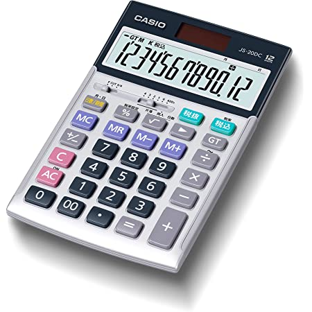 カシオ 本格実務電卓 12桁 日数&時間計算 グリーン購入法適合 ジャストタイプ JS-20DC-N