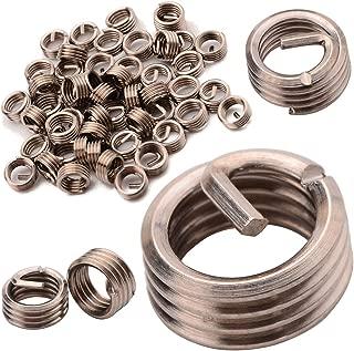 Thread Repair Kit - 50pcs Wire Thread Inserts 304 Stainless Steel Metric Helical Screw Repair Insert Assortment Kit M6x1 - Mandrel Heat Bolts Bolt Furniture Flush Threaded Caster Nuts 6-32 Solder