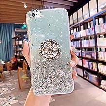NSSTAR Beschermhoesje voor iPhone 6S 4,7 cm met standaard ring glitter sterren pailletten beschermhoes glanzend strass tra...
