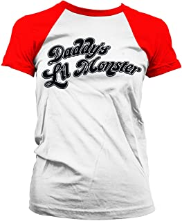 Officially Licensed Suicide Squad Daddyエs Lil Monster Baseball Women T-Shirt