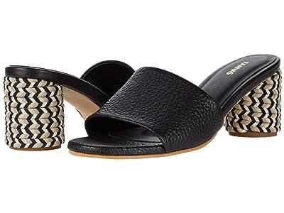KAANAS Tobago Multicolor Braid-Wrapped Heel (Black) Women