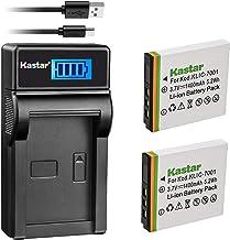 Kastar Battery (X2) & Slim LCD Charger for Kodak KLIC-7001 and Kodak EasyShare M320, M340, M341, M753 Zoom, M763, M853 Zoo...