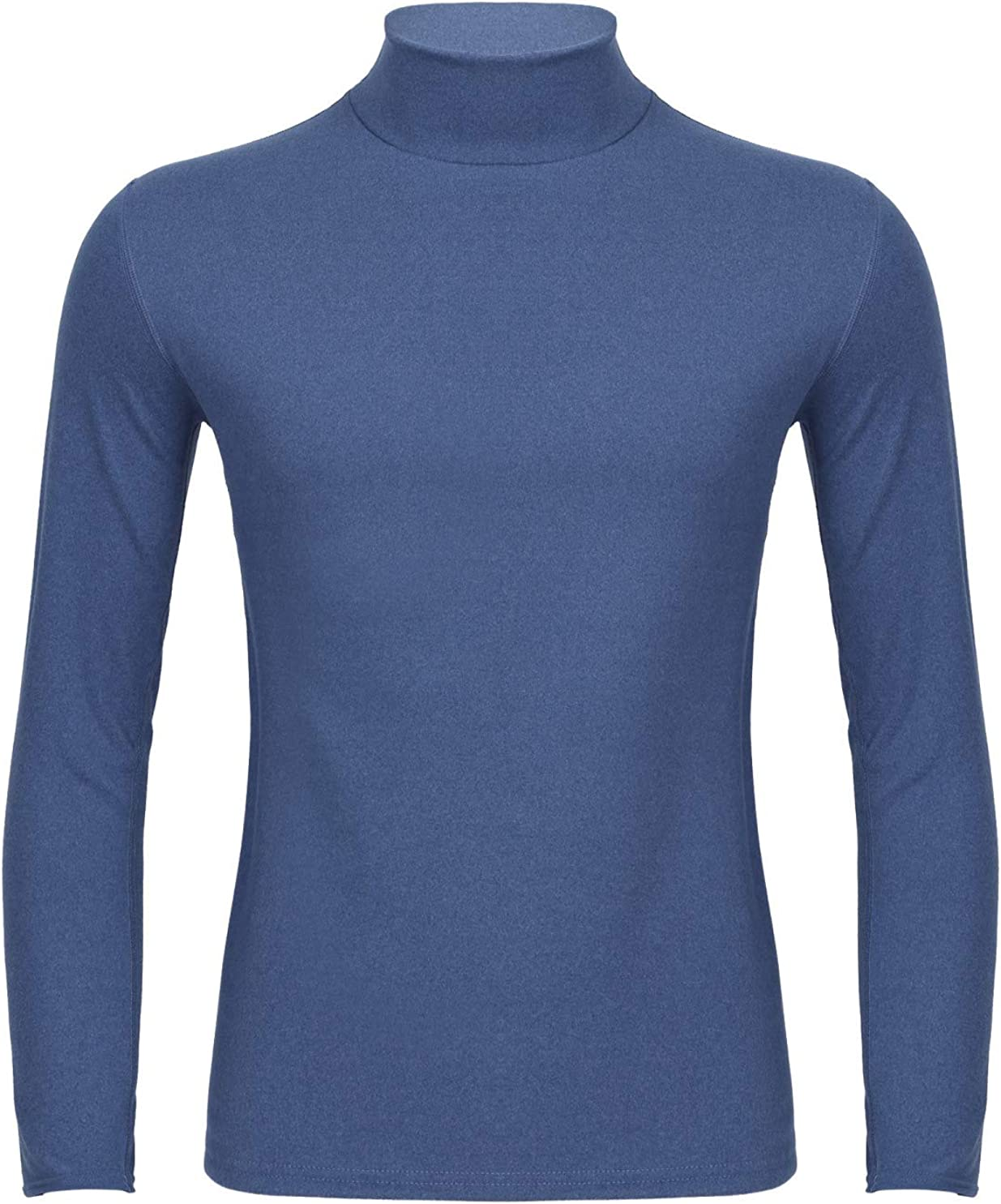 Hularka Mens Thermal Top Base Layer Shirts Long Sleeve Turtleneck Slim Fit T-Shirts Undershirts