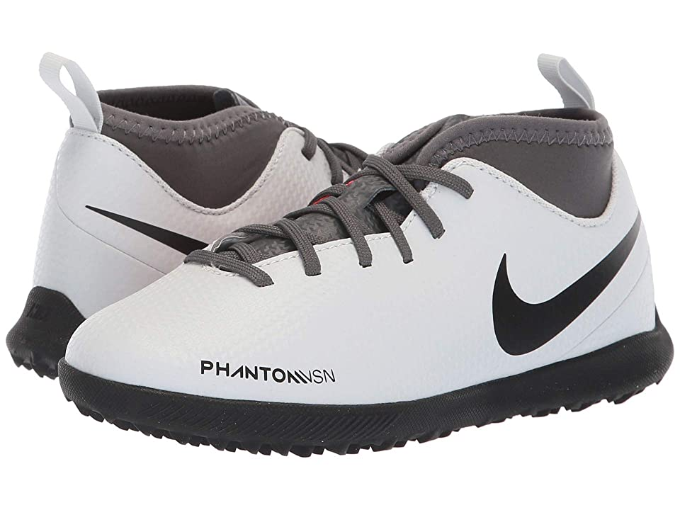 Nike Kids Jr. ObraX 3 Club Dynamic Fit TF Soccer (Toddler/Little Kid/Big Kid) (Wolf Grey/Black/Light Crimson) Kids Shoes