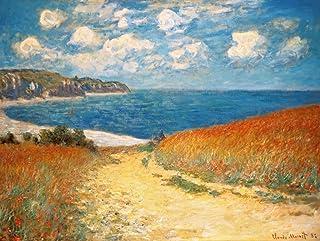 Kunst für Alle Reproduction/Poster: Claude Monet Strandweg zwischen Weizenfeldern bei Pourville - Affiche, Reproduction Ar...
