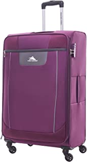 High Sierra Travel Tank Softside Spinner Luggage 56cm with 3 digit Number Lock - Purple