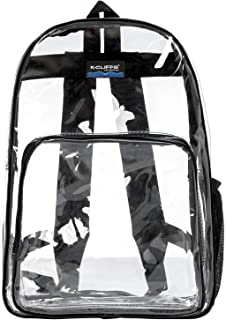 "Clear Classic Backpack for Security Checkpoint | Fits 13"" Laptops 