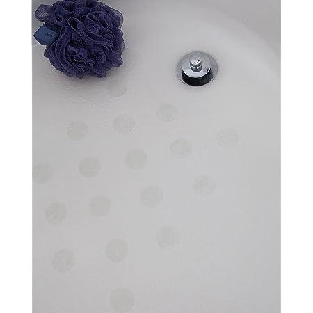 Gobesty Round Non-slip Strips Shower Bathroom,Treads Steps Slip protection 20 PCS Non-slip Shower Stickers Bathtub Stickers Bathroom anti-slip Tape for Staircase With Scraper,10cm Diameter