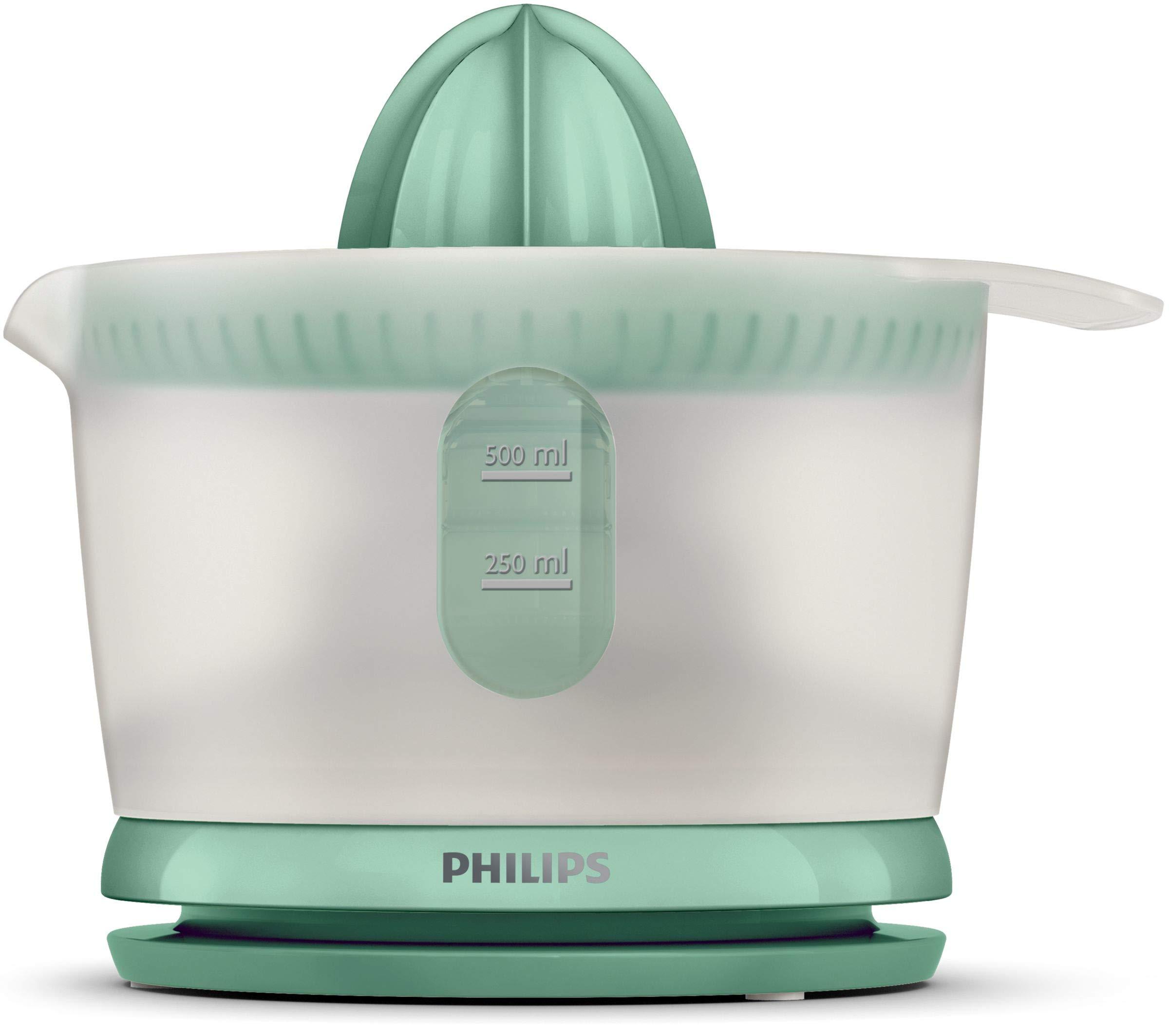 Philips HR2738/50 Exprimidor con boquilla sin goteo, jarra para zumo de 500 ml incluida, Verde mint: Amazon.es: Hogar