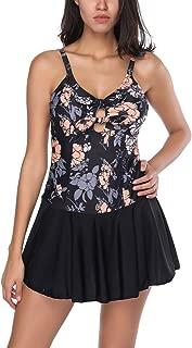 Womens One Piece Swimwear Dress Tankini Swimsuit Floral Skirted Swimdress
