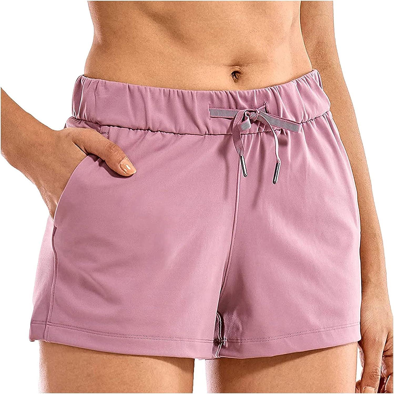 KEJINKCSEE Womens Casual Shorts with Waist Pockets OFFer El 2021 Drawstring