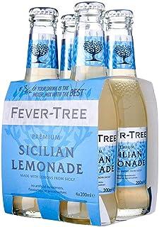 Fever Tree Sicilian Lemonade Tonic, 4 ml, (Pack of 4)