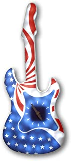 Creative Motion Battery-Operated LED American Rock Guitar Wall Clock without Adapter