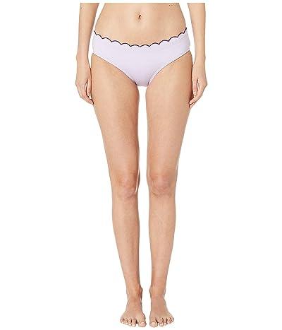 Kate Spade New York Contrast Scalloped Hipster Bikini Bottoms (Frozen Lilac) Women