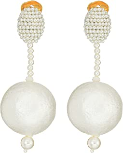 Pearl Drop Ball C Earrings