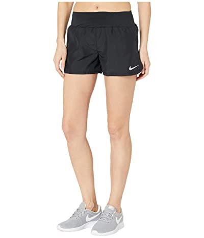 Nike Crew Shorts (Black/Reflective Silver) Women