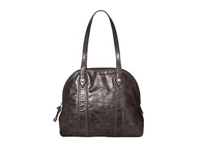 Frye Melissa Domed Zip Satchel (Carbon) Handbags
