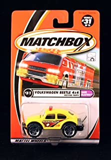 Matchbox Volkswagen Beetle 4x4 Yellow Sand Blasters Series 2000 Basic Die-Cast Vehicle (#31 of 75)