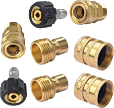 DUSICHIN DUS-028 Coupler Pressure Washer Adapter Set Quick Disconnect Kit M22 Swivel to 3/8'' Quick Connect 3/4