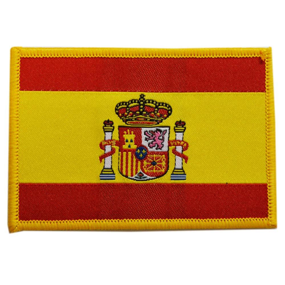 Parche de Tela de la Bandera de España con el Escudo. Medidas: 9 x 6 cm.: Amazon.es: Deportes y aire libre