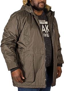 D555 Big Mens Lovett Parka Jacket Khaki 3XL 4XL 5XL 6XL