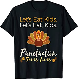 Christmas Teacher shirt : Let's eat kids grammar t-shirt