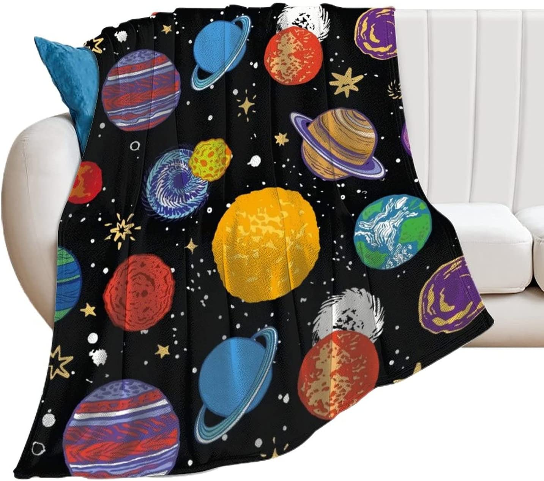 Ktbean Our shop most popular EFOEKY Solar System Ultra Soft Blanket for Super sale period limited Fleece Ad Kids
