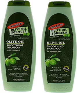 Olive Oil Smoothing Shampoo by Palmers for Unisex - 13.5 oz Shampoo - (Pack of 2)