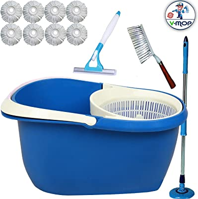V-MOP Unbreakable Bucket Spin Mop((Made in India))