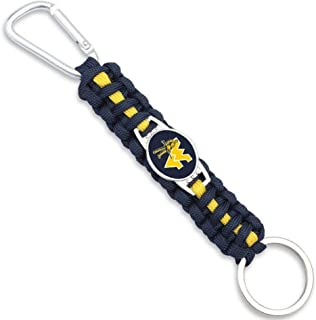 Collegiate Pulse University of WEST Virginia Mountaineers NCAA Spinning Key Shaped Keychain