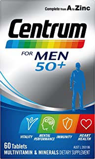 Centrum Multivitamin 50 Plus Tablets for Men's, Multi 60 count, Pack of 60