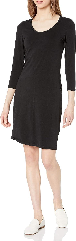 Amazon Brand - Daily Ritual Women's Stretch Supima Long-Sleeve Dress