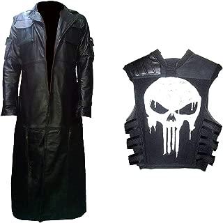 Deal: Men's Punish Castle Jane Leather Trench Coat & Vest Costume