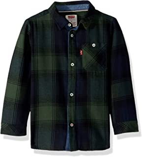 Boys' Long Sleeve One Pocket Button Up Shirt