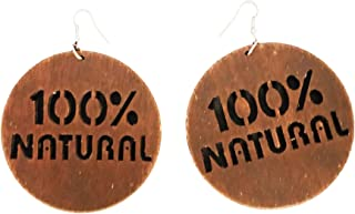 100% Natural Earrings/Natural Hair/African American Woman Earring/African Wood Jewelry Natural Craft Wood Cutout/Nubian Ea...