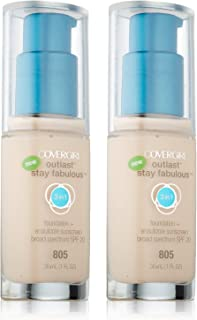 CoverGirl Outlast Stay Fabulous Ivory 805 3 in 1 Foundation -- 2 per case.