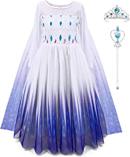 ToLaFio Princess Dresses for Girls Princess Costumes Queen Costume Cosplay Dress Up Clothes for Little Girls with Accessories