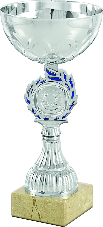 Art-Trophies AT81191 Trofeo Deportivo, Plateado/Azul, Talla Única