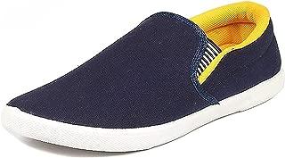 Ethics Men's Pilot Blue Black Casual Loafer Shoes