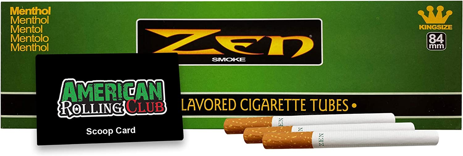 Zen Cigarette Tubes Menthol Size 200 King Includes Ranking Los Angeles Mall TOP1