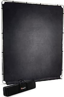 Manfrotto EzyFrame Vintage Achtergrondset - Kleurtinnen - Inklapbaar - Aluminium Frame - 2 meter x 2,3 meter - met stijve ...